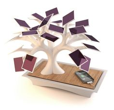Electree is a modern sculpture imitating a bonsai, the leaves of which are small photovoltaic panels.      It allows to recharge your mobile devices without using any other energy than light.