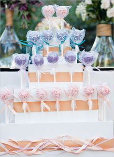 Big cakes are a thing of the past;  these individual serving of cake pops  are the future! Jump on board with the new craze that's winning people over one bite at a time. Also, don't be afraid to mix it up with various flavors to ensure you please all your guests and their palettes.