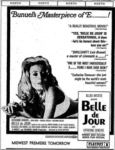 Belle de jour(1967) ※8/21/1968,Chicago Tribune 昼顔 カトリーヌ・ドヌーヴ