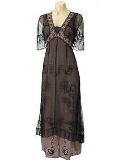 Downton Abbey Dresses for Sale | ... Embroidered Tulle Empire Tea Dress-Edwardian Downton Abbey dresses