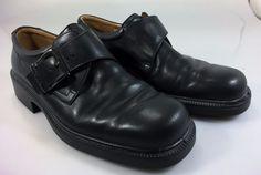 Ecco Dublin Buckle Slip On Shoe sz 10 Men 44 EU Black Leather #Ecco #LoafersSlipOns