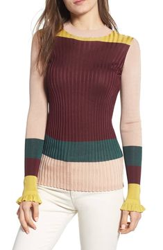 Looking for Scotch & Soda Colorblock Ribbed Sweater - Women's fashion Sweater ? Check out our picks for the Scotch & Soda Colorblock Ribbed Sweater - Women's fashion Sweater from the popular stores - all in one. Ribbed Top, Ribbed Sweater, Scotch Soda, No Frills, Color Blocking, Sweaters For Women, Burgundy, Nordstrom, Pullover