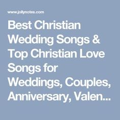 28 Great Christian Wedding Songs to Walk Down the Aisle | Texas ...