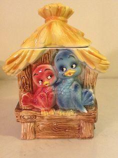 "Lefton Trademark Vintage. ""LOVEBIRD"", Cookie Jar."
