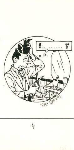 Bingo Bongo : Le traumatisme original, dessin titre par Ted Benoit, 1987.