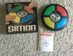 Vintage Original Simon a Computer Controlled Game by Milton Bradley 1978 #MiltonBradley