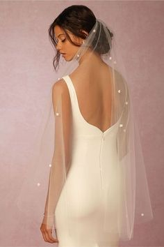 Create an ethereal aura with just a flip of your veil.BHLDN Ode To Spring Veil, $240, available at BHLDN. #refinery29 http://www.refinery29.com/wedding-veils#slide-1