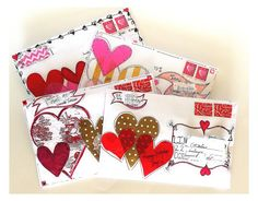 easy valentine crafts for children Easy Valentine Crafts, Valentines Art, Valentine Day Gifts, Paper Hearts Origami, Mail Art Envelopes, Fancy Envelopes, Addressing Envelopes, Envelope Art, Envelope Templates