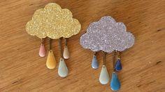 DIY Cloudy brooch
