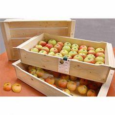 Apfelstiege. Stapelkiste für Ihre Apfelernte aus unbehandeltem Fichtenholz. Deckel und Stiege mit Rollen unter www.bundladen.de. 19,90 €