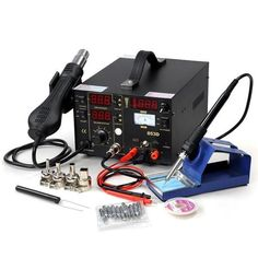 853D 3in1 Hot Air & Iron Power Supply SMD Rework Solder Station