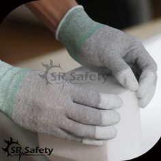 4.29$  Watch here - http://ali8cg.shopchina.info/go.php?t=32792778986 - SRSAFETY 2 Pairs AntiStatic Gloves,Nylon-Carbon knitted Liner Coated White PU On Finger Tips ESD Glove  #buyininternet