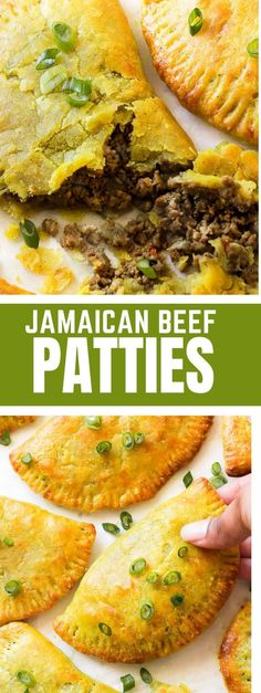 Thin, flaky and buttery yellow crust with a highly seasoned beef filling. Make a big batch because these Jamaican beef patties will disappear fast! Popular on Pinterest! #jamaicanbeefpatties #beepatties #jamaicanrecipes Vegan Recipes Easy, Lunch Recipes, Summer Recipes, Appetizer Recipes, Beef Recipes, Dinner Recipes, Cooking Recipes, Kitchen Recipes, Jamaican Beef Patties