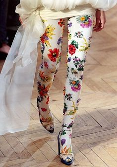 Magnificent beaded and sequinned floral tights | Josep Font Fall 2008