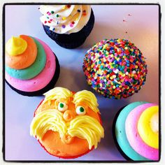 At the far end of town  where the Grickle-grass grows  and the wind smells slow-and-sour when it blows  and no birds ever sing excepting old crows...  is the Cupcake of the Frosted Lorax. I like the look of the layered ones