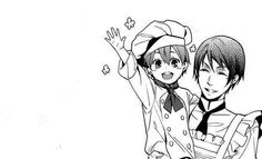 Ciel looks so happy here!But he doesn't get to look like this forever