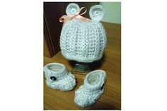 My favorite bear hat and booties! So cute and I love the special stitching!