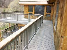 composite decking with wood railing - Google Search