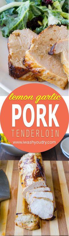 I never knew it was so easy to make a moist and tender pork tenderloin! This Lemon Garlic Pork Tenderloin is now a family favorite!