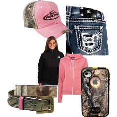 Pink and camo (would be cute with romeos!)