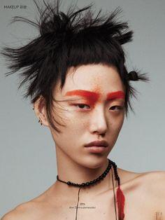 "thebeautymodel: ""'Bird Like Colours' Sora Choi by Benjamin Lennox for Vogue China March Stylist: Tom Van Dopre Hair: Vi Sapyyapy Makeup: Violette Nails: Maki Sakamoto "" Makeup Inspo, Makeup Art, Makeup Inspiration, Beauty Makeup, Hair Makeup, Hair Beauty, Vogue Makeup, Makeup Style, Editorial Hair"