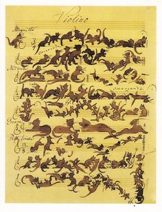 The Cats Symphony, by Moritz von Schwind, (1868). soyouthinkyoucansee on tumblr.