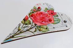 srdce na dvere s ružami