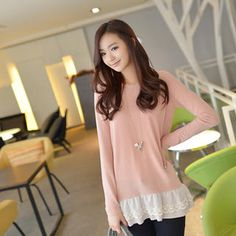 Buy 'CLICK – Lace-Hem T-Shirt' with Free International Shipping at YesStyle.com. Browse and shop for thousands of Asian fashion items from South Korea and more!