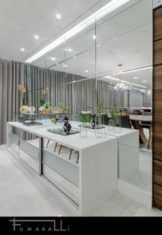 Apartamento Sofisticado : Salas de jantar modernas por Jacqueline Fumagalli Arquitetura & Design