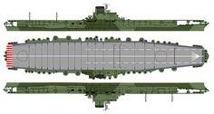 IJN Shinano (信濃?) - Portaerei - Classe unica, derivata dalla Classe Yamato - Entrata in servizio 19 novembre 1944 - Caratteristiche generali Dislocamento 62 000 t Lunghezza 266 m Larghezza 36,3 m Pescaggio 10,3 m Propulsione 12 caldaie a vapore surriscaldato Kanpon, 4 turboriduttori Kanpon, 150 000 CV (110 MW) Velocità 27 nodi (51 km/h) Autonomia 10 000 nm a 27 nodi (18 400 km a 50 km/h) Equipaggio 2 400 - Affondata il 29 novembre 1944 dal sottomarino USS Archerfish