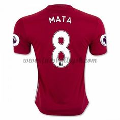 Premier League Fussball Trikots Manchester United 2016-17 Mata 8 Heimtrikot Kurzarm
