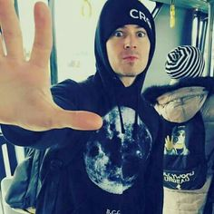 J-Dog.. Haha, look at the backpack behind him. xD  -is he wearing a crown the empire hat?!