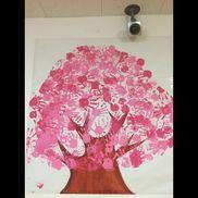4月の壁面制作『さくら』3〜5歳児みんなで手形ペタペタ* Pink Kids, Spring, Painting, Home Decor, Dekoration, Decoration Home, Room Decor, Painting Art, Paintings