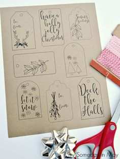 New diy christmas tree cardboard gift tags Ideas Free Printable Christmas Gift Tags, Free Christmas Gifts, Diy Christmas Tree, Christmas Gift Wrapping, Christmas Holidays, Christmas Lights, Xmas, Merry Christmas, Stampin Up Weihnachten