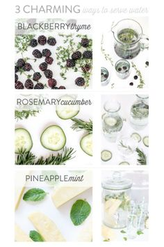 3 Charming Ways to Serve Water