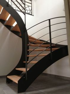 Awesome Stairs Design Home. Now we talk about stairs design ideas for home. In a basic sense, there are stairs to connect the floors Interior Stairs, Interior Architecture, Interior Design, Cosy Interior, Scandinavian Interior, Contemporary Interior, Escalier Design, Modern Stairs, Metal Stairs
