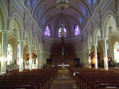 "Immaculate Conception Catholic Church, Chicago, IL by catholicsanctuaries, via Flickr - This where my mom was baptized and got married - used to have a fantastic marble altar but the 70's were not kind - this is the latest wooden ""redo"""