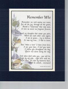 Remembrance Poems, Memorial Poems, Memorial Cards, Funeral Gifts, Funeral Poems, Funeral Cards, Sympathy Poems, Sympathy Gifts, Sympathy Cards