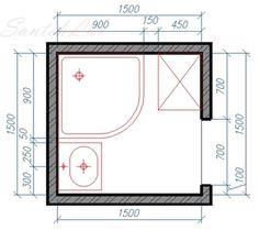 Расстановка сантехники для небольшой ванной комнаты Small bathroom interior