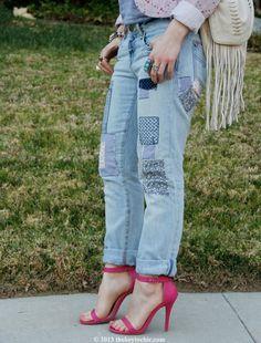 Patchwork jeans  - Provincial Picnic trend