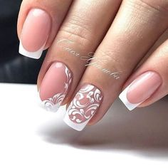 False nails have the advantage of offering a manicure worthy of the most advanced backstage and to hold longer than a simple nail polish. The problem is how to remove them without damaging your nails. Bridal Nails Designs, Wedding Nails Design, Gel Nail Designs, Wedding Gel Nails, Nail Manicure, Diy Nails, Crome Nails, Nagel Gel, Beautiful Nail Designs