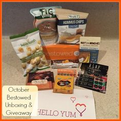 """You all know I love my healthy food subscription boxes. The nice folks at Bestowed offer review boxes to blogger ambassadors like me. Of course, I always say """"yes."""" Since I have already tried many of these products, I am going to give the October """"Non-GMO month"""" box away. Bestowed is a curated, healthy food subscription box that delivers delicious snacks, beverages and more to…"""