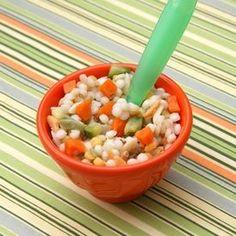 Confetti Pasta - Whole grain pasta, zucchini, squash and carrots.