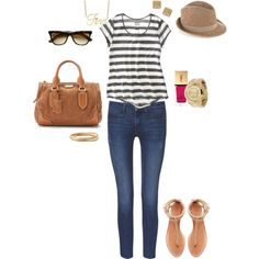 I have this except my skinny's are red & the t-shirt's navy & white...great for Memorial Day or The 4th xoxo