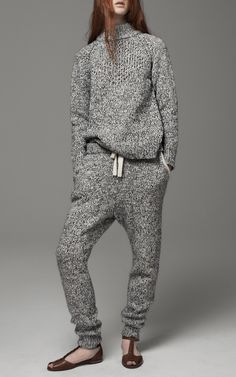 Marled Knit Sweatpants, THAKOON ADDITION