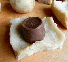 Rolo Stuffed Snickerdoodles. Wrap a Rolo in a sugar cookie dough and bake at 325 for 14 min.