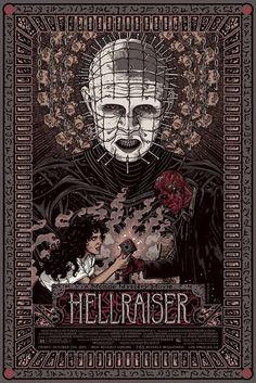 details about hellraiser movie poster 46245 horror art florian bertmer mondo halloween - Halloween Mondo Poster
