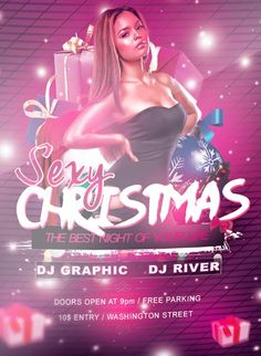 Sexy Christmas Free PSD Flyer Template - http://freepsdflyer.com/sexy-christmas-free-psd-flyer-template/ Sexy Christmas Free PSD Flyer Template - This PSD is set up in 1275×1875 dimension (4″ х 6″ with 0,25″ bleed). You can easily change texts, content, images, objects and color palette. The PSD file is very well organized, with color coded groups and layers named appropriately.  #Bar, #Christmas, #Club, #Dance, #Diva, #DjBattle, #EDM, #Electro, #Glamorous, #HipHop