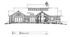Check out the rear elevation of house plan 1471.