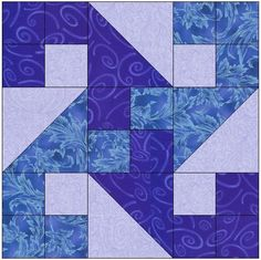 Looking for your next project? You're going to love Crashing Waves Quilt Block Pattern by designer FeverishQuilter. - via @Craftsy